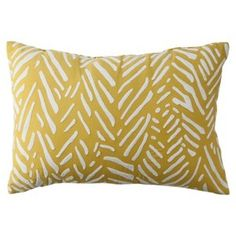 yellow target throw pillow