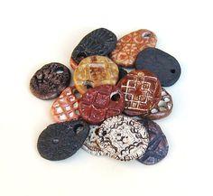 Ceramic Pendants Sale15 Rustic Ancient Look by midnightcoiler, $30.00