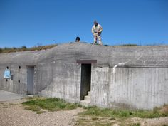 """The open-air museum of the battery """"Hanstholm I """" is situated in the dunes of Hansholm.  It is one of the best preserved costal German batteries in DK.  Construction began in 1940.  The battery consists of 19 larger bunkers.  Almost all are accessible.  Denmark"""