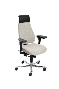 The 8000 desk chairs have the same design and most of the same components as the 6000 range. The difference is the tilting function. The 8000 has a tilt, where the relationship between the seat and the back is well synchronized for a smooth tilting movement. The 8000 offers many adjustment possibilities and great freedom of choice for composing a personal chair.