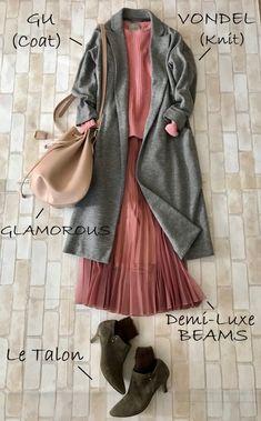Fashion Mode, Hijab Fashion, Korean Fashion, Fashion Dresses, Womens Fashion, Surf Girl Style, Spring Fashion, Autumn Fashion, Color Combinations For Clothes