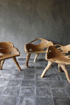 teak root #chairs #wood