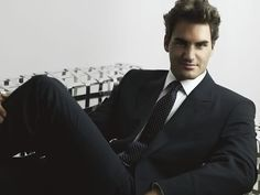Looking so sophisticated! #RogerFederer