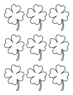 printable small four leaf clover pattern use the pattern for crafts creating stencils - Four Leaf Clover Printable