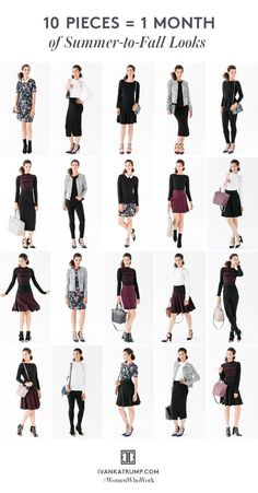 10 Fall Styles = a Month of Work-Chic Outfits This time our eye's on knits. Business Casual Outfits, Chic Outfits, Fall Outfits, Fashion Outfits, Simple Outfits, Work Outfits, Capsule Wardrobe Work, Travel Clothes Women, Travel Clothing