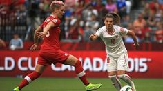 Ramona Bachmann of Switzerland (R) and Sophie Schmidt of Canada