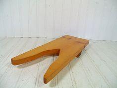 Rustic Rectangular Solid Wood Boot Jack - Vintage Handmade Wooden Heavy Duty Western Wear Shoe Pull - Pine Plank Wood Shop Photo Prop Piece $17.00 by DivineOrders