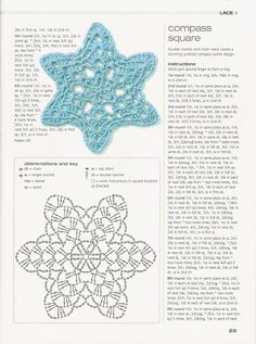 crochet home: crochet motifs Crochet Snowflake Pattern, Crochet Stars, Crochet Motifs, Crochet Snowflakes, Crochet Diagram, Crochet Granny, Crochet Doilies, Crochet Flowers, Crochet Stitches
