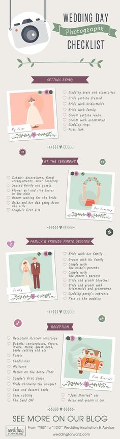 wedding day photo checklist