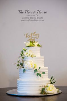 Wedding cake designed by Wente Restaurant and Winery