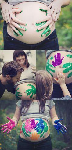¡Pinta tu Barriga de Embarazada en Familia! | Paint your Pregnant Belly in Family! #diadelafamilia #familyday