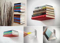 Floating Books Book Shelf