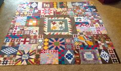 Happy Scrappy Orphan Block Of the Month Quilt: Out of orphan blocks here, two different ways to finish your quilt.