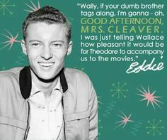 Eddie Haskell Quotes Magnificent Eddie Haskell  Leave It To Beaver  Pinterest