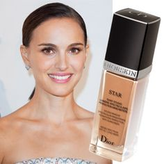 """Instead of dusting a tawny powder onto dry winter skin, try a power-packed liquid foundation. To deliver a subtle touch of color and illumination, Natalie Portman's Paris makeup artist Saraï Fiszel uses Diorskin Star foundation ($50; dior.com) with light-diffusing silica beads. """"A thin layer on the cheekbones, nose, and forehead provides a dewy look,"""" Fiszel says."""