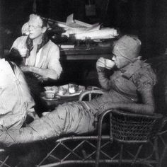 Elsa Lanchester and Boris Karloff share a spot of tea on the set of Bride of Frankenstein (1935).