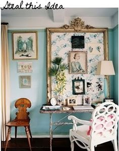 Home Office Decor Inspiration is very important for your home. Whether you choose the Modern Office Design Home or Office Design Corporate Interiors, you will make the best Office Interior Design Ideas Hidden Doors for your own life. Turquoise Office, House Of Turquoise, Teal Office, Turquoise Walls, Office Chic, Office Paint, Home Office, Office Nook, Corner Office