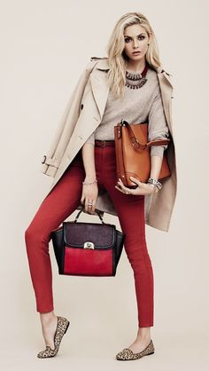 Actress Tamsin Egerton has been signed as the face of British High Street brand Accessorize Winter Outfits, Casual Outfits, Fashion Outfits, Womens Fashion, Fashion Ideas, Tamsin Egerton, Harper's Bazaar, High Street Brands, Red Pants