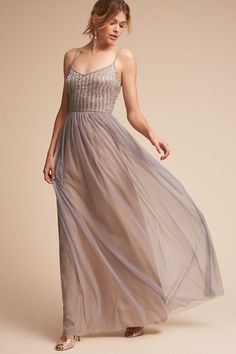 Silver Grey Laurent Dress | BHLDN