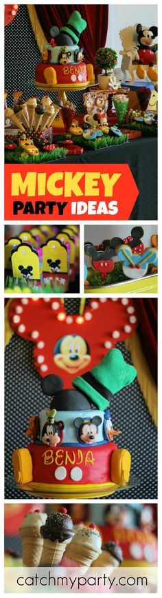All Mickey Mouse fans will adore this Party! So colorful and so much fun! See more party ideas at CatchMyParty.com