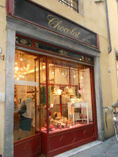 Chocolate shop in Lucca