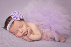 lavender tulle tutu, matching headband, newborn photo prop, newborn tutu ,baby gift, newborn picture outfit on Etsy, $28.00