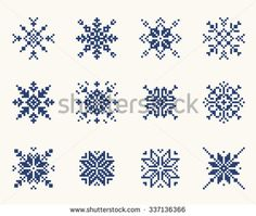 Find Set Ethnic Slavic Snowflakes Red Isolated stock images in HD and millions of other royalty-free stock photos, illustrations and vectors in the Shutterstock collection. Thousands of new, high-quality pictures added every day. Cross Stitch Tattoo, Xmas Cross Stitch, Cross Stitch Borders, Modern Cross Stitch, Cross Stitching, Cross Stitch Embroidery, Cross Stitch Patterns, Christmas Embroidery Patterns, Embroidery Patterns Free