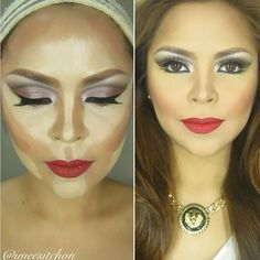 #ShareIG I love @imeesitchon contouring pictorials, this is one of the three images that she posted, I highly suggest that you check out her page for steps  beautiful work love, you look flawless. #anastasiabeverlyhills #mua #makeup #contouring #flawless #face #instamakeup #instabeauty