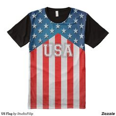 US Flag Men's American Apparel All-Over Printed T-Shirt | To SAVE BIG on your purchase just enter the Discount Code at checkout! >>> It's right under the menu on each product page!