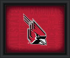 """Ball State University """"College Logo Plus Word Clouds"""" - 15 x 18 Framed Print"""
