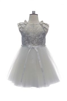 If you're looking for that perfect summer wedding guest or party dress, the elegant white girls formal summer dress from the Spring/Summer 2015 collection is the perfect choice. This stunning children's formal dress is perfect for family occasions, weddings, Christenings and similar events with its sophisticated and dainty style. The dress features a white bodice with white lace overlay and a luxurious skirt made from layers of white tulle. The bodice and skirt are separated with a stylish…