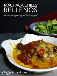 Low carb keto Machaca Chile Rellenos from Fluffy Chix Cook are TEx-Mex bliss.