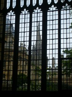 The view from inside the Bodleian Library. (Britain's oldest library)