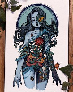 Anime Drawing Styles, Cartoon Art Styles, Pretty Art, Cute Art, Fantasy Character Design, Character Art, Art And Illustration, Character Illustration, Different Art Styles