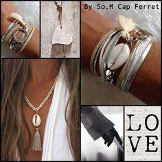 Les Bracelets - By So.M Cap Ferret, création bijou unique, fait main, Bassin d'Arcachon, Femme, Homme, enfant, perles pierres semi-précieuses, argent ....