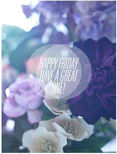 disfruten su viernes!
