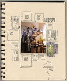 Drawing Doodles Sketchbooks Sketchbook inspiration , How to Create Art Portfolio Ideas Sketchbook Project, Sketchbook Pages, Art Journal Pages, Art Journals, Fashion Sketchbook, Sketchbook Drawings, Moleskine, Collages, Ouvrages D'art