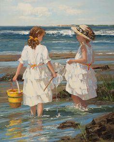 Sally Swatland - Summertime. Important fine art for sale on the CuratorsEye.com