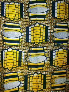 African wax block print fabric