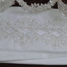 Bridal Shawl organza, white pearls and sequin trimmed. Matching dresses added today.