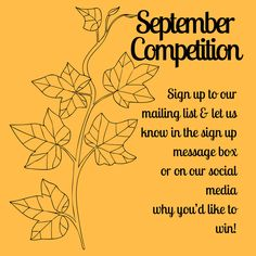 It's #September #Competition! Competition Time, September, Social Media, Messages, Let It Be, Social Networks, Text Posts, Text Conversations