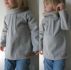 Pintuck Sweater Tunic pattern and tutorial 12M-4T EASY SEW epattern. $6.00, via Etsy.