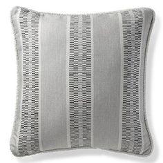 Kiernan Stripe Dove Outdoor Pillow