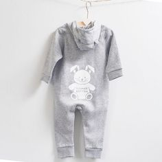 Personalised Baby Romper Bunny on Bottom Design