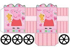 Peppa Pig: Princess Carriage Shaped Free Printable Box.