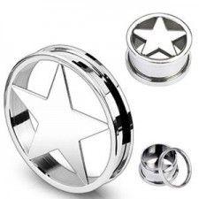 Piercing plug étoile/ plug star www.exclusivepiercing.com