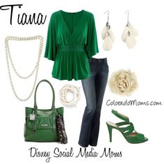 "Women's fashion ""Disney Princess"" Tiana - Outfit for Disney Princess Tiana, Disney Princess Outfits, Frog Princess, Disney Bound Outfits, Princess Inspired Outfits, Disney Inspired Fashion, Character Inspired Outfits, Disney Fashion, Cosplay Informal"