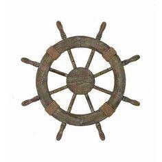 "Nautical Wood Ship Wheel 24"" $22"