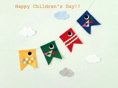 Boys Day, Child Day, Kids Boys, Happy Children's Day, Happy Kids, Felt, Holiday Decor, Party, Crafts