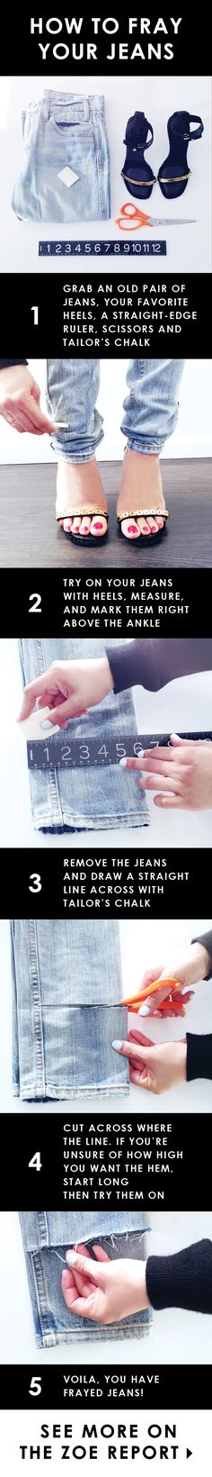 How to bring new life to your old jeans #DIY